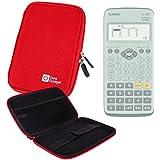 Coque rouge rigide pour Casio Fx 92, Graph 35+ E, Graph 25+ E, Graph 95 SD calculatrices scientifiques - résistant à l'eau - DURAGADGET