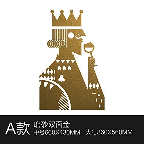 XiaoGao red wine bar bar, un negozio di abbigliamento vetri adesivo poker europea moderna muro decorativo adesivo,un irritante oro 860 * 560 mm