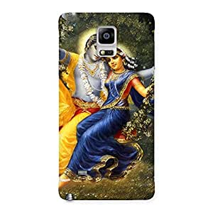 Radha Krishna Back Case Cover for Galaxy Note 4