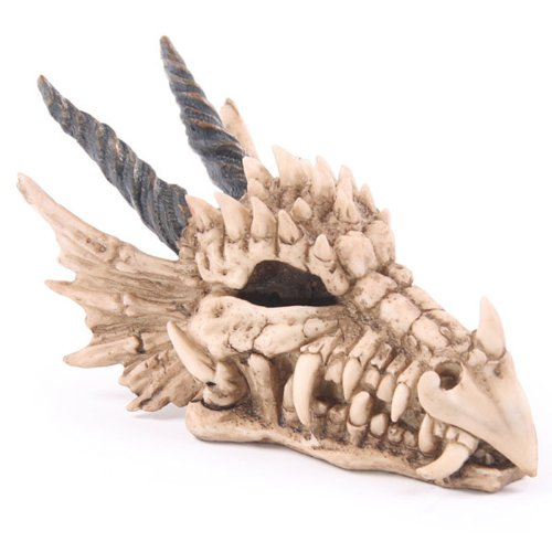 Dragon Skull Money Box - (Goth Decor Home)