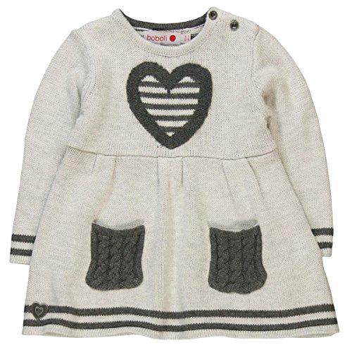 Bóboli Baby-Mädchen Kleid Knitwear Dress For Girl, Grau (Grey 7299), 80