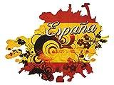 GRAZDesign Fototapete Flagge - Poster selbstklebend Spanien