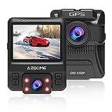 AZDOME Dual Dashcam Caméra Voiture Avant Arrière avec GPS, WDR, Super Vision...