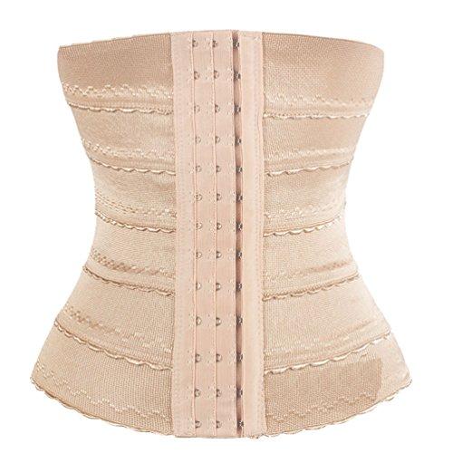 ZKOO Rimmer Cinturón Cintura Mujeres Corsé de Cintura Faja Reductora Cintura Elástica Shapewear Abdomen Cinturón Albaricoque