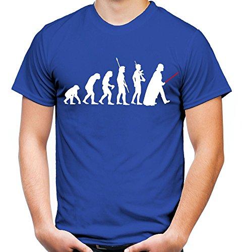 Evolution Darth Vader Männer und Herren T-Shirt | Star Wars Vintage Empire Geschenk (S, Blau)