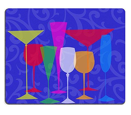 rtiert stilisierten Brille für Martini Wein Brandy etc. Blau Swirl Hintergrund Bild 23868974Individuelle Art Desktop Laptop Gaming Mauspad (Martini-schalen)
