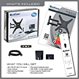 QualGear Universal Ultra Slim Low Profile Articulating Wall Mounting Kit with 10 ft HDMI v1.4 Cable and 3-Axis Magnetic Bubble Level for LED TV Upto 23 - 47-Inch Bild 1