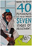 Hallmark 40th Birthday Card for Him, Funny Monkey - Medium