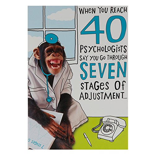 Hallmark 40th Birthday Card, Funny Monkey