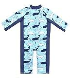Splash About Jungen Einteiliger UV Schutzanzug, Blau Wal, 3-6 Monate, UVAVM3