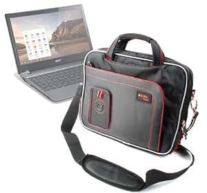 Lenovo ThinkPad 10 Gen2 DURAGADGET Étui de qualité supérieure antichoc & résistant à l'eau pour tablette Housse de transport avec sangle noire pour Lenovo ThinkPad & Rouge 10 Gen2 libération (2015)