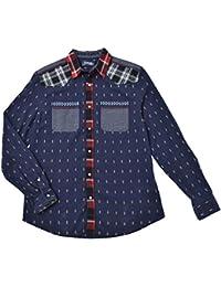 chemise desigual 67c12b5 cuadros 1 bleu