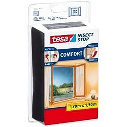 Tesa Insect Stop Moustiquaire Comfort pour fenêtres 1,30m x 1,50m