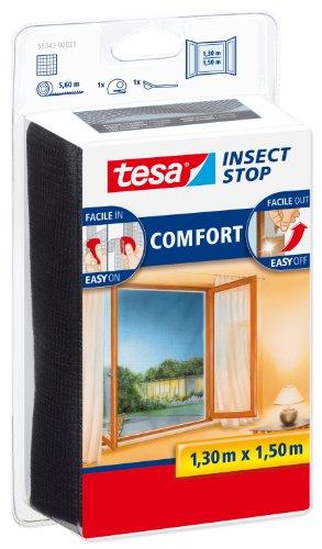 Tesa 55343-00021-00 Zanzariera per Finestra, qualità Comfort, Antracite