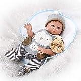 Reborn Doll JFW-Reborn 20 Zoll 50cm Ganzkörperpuppen Soft Silikon Vinyl Real Life Like Reborn Puppe Soft Vinyl Realistische Neugeborenes Baby Puppe Wasserdichter Magnet Schnuller