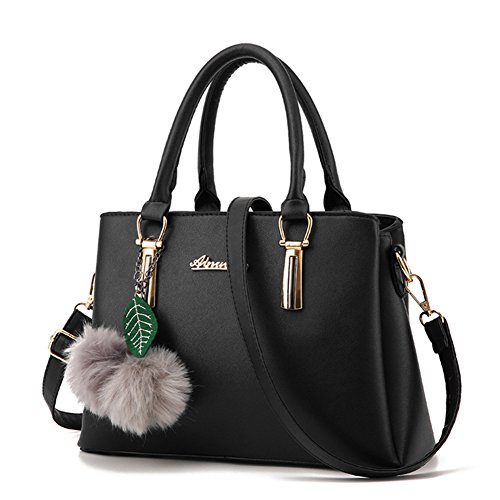 ZiXing Modetrend Handtaschen Schulter diagonal Tasche beiläufige Handtaschen Frauen Handtasche Schwarz (Tasche Schulter)