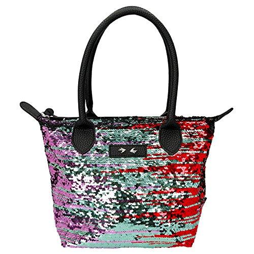 Depesche 10102 - Trend Love Handtasche, schwarz mit Pailletten, ca. 31 x 23 cm