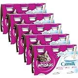 WHISKAS - Catmilk - Lait pour chats en bouteille - 3 x 200 ml - Lot de 5