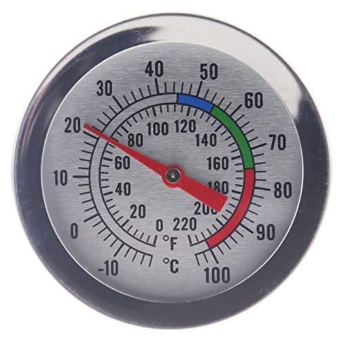 Thermometer zur Kerzenherstellung - ideales Werkzeug für Kerzen zum Schmelzen von Soja- und Paraffinwachs, 175 mm Edelstahl-Sonde mit Pan-Clip, leicht ablesbares Zifferblatt -
