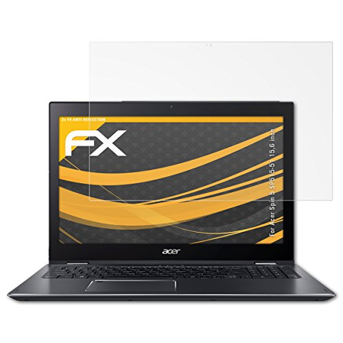 atFolix Panzerfolie kompatibel mit Acer Spin 5 SP515-51 15,6 inch Schutzfolie, entspiegelnde & stoßdämpfende FX Folie (2X)