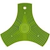 BRA Safe - Salvamanteles de silicona multiusos imantados, 2 unidades, color lima