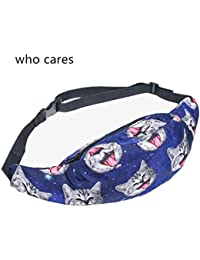 Buyworld 3D Printing Galaxy Cat Zip Waist Bag Pouch Fanny Pack Belt Bags Men Pocket Fashion Bolso Travel Unisex...