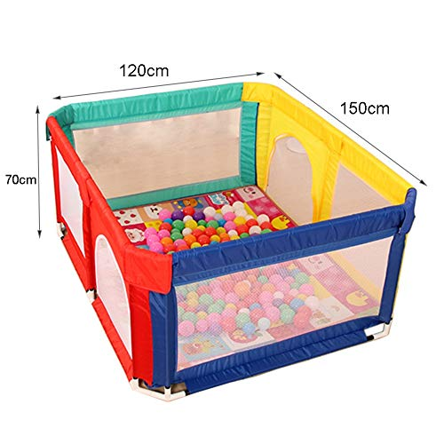 Playpens Safety Baby Playyard, Lightweight, Nursery Center Household Game Fence, Durable Anti-collision, 120×150×70cm  MMDP