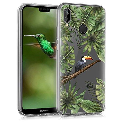 kwmobile Huawei P20 Lite Hülle - Handyhülle für Huawei P20 Lite - Handy Case in Grün Schwarz Transparent