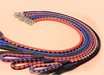 AMDXD Harnais de Collier de Chien Noir Nylon Harnais Laisses Set pour Chien Collier de Sangle de Poitrine Laisse M