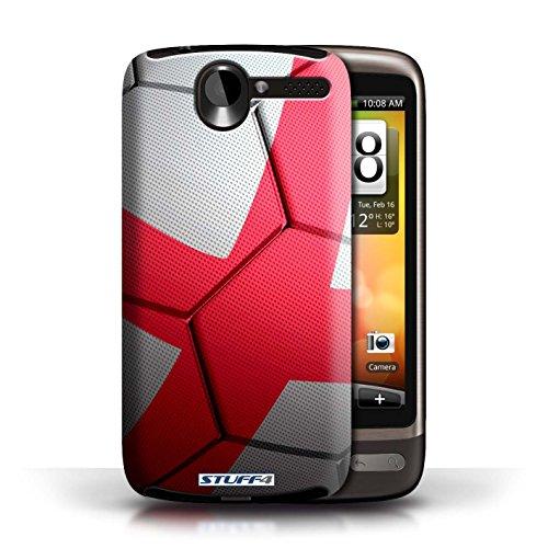 Kobalt® Imprimé Etui / Coque pour HTC Desire G7 / Brésil/Brésilien conception / Série Nations de Football Angleterre