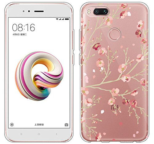 Cover Xiaomi Mi 5X / Xiaomi Mi A1 , ivencase Custodia Silicone Trasparente TPU Flessibile Sottile Bumper Case per Xiaomi Mi 5X / Xiaomi Mi A1