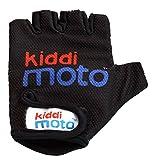 Kiddimoto-2gl009s Guanti Bici per Bimbi, Colore Uni Nero, S, 2gl009s