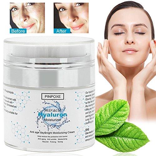 Hyaluron Creme,Anti Wrinkle Cream,Anti Aging Cream für Gesicht Hals und Augenpartie, Gesicht Feuchtigkeitsserum mit aktiven Retinol,...