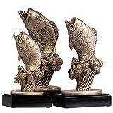 3 Stück Angler Angeln Pokal Trophäe Fisch, Karpfen Resign Keramik mit Sockel 19/23/25 cm hoch
