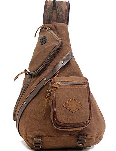 Bag Canvas Military Messenger Crossbody Schulter Outdoor Reisen Wandern Rucksack für Herren ABA024 ()