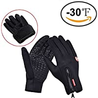 Winter Gloves, Cotop Sports Outdoor Wome's and Men's Warmer Touchscreen Gloves with Zipper for Smart Phone