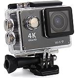 Konarrk Action Camera 4K Ultra HD Video Recording 1920x1080p 60fps Action Camera With Wifi - Black