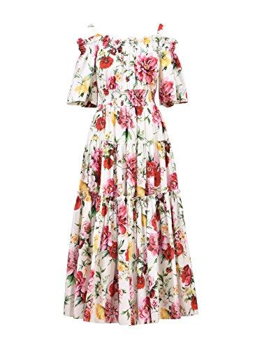 Dolce E Gabbana Damen F68e1tfs57shm62 Multicolour Seide Kleid (Gabbana Damen-kleider & Dolce)