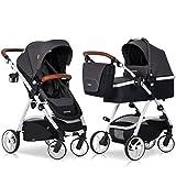 2in1 Kombi Kinderwagen Optimo schwarz klappbar Babywanne und Buggy