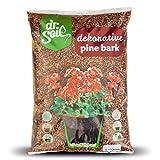 Dr.Soil Corteza de Pino mediterránea granularidad Natural de 8 a 15 mm para acolchar Las Plantas en macetas o plantadores, para arreglos Florales y Decoraciones en una Bolsa de 5 l