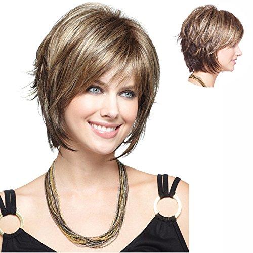 Preisvergleich Produktbild Zhuhaixmy H8I Fashion Cosplay Short Kurz Curly Synthetic Hair Haar Women Full Wigs M19-270 32cm