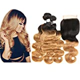 Best Hair Weave Blonde 3 Bundles - Mila Brazilian Hair 3 Bundles Ombre 1B/27# Honey Review