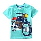 JERFER Kleinkind Kinder Baby Jungen Mädchen Kleidung Kurzarm Cartoon Tops T-Shirt Bluse (Hellgrün, 4T)