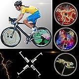 Lixada Fahrrad Smart Speiche Rad Licht/Fahrrad Rad Hub LEDs Licht, Voll Farbige/Wasserdicht/Unterstützung DIY Ihren Eigenen Text(für ein Rad)