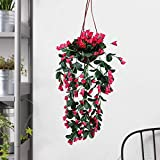 Loxiaa Artificial Hanging Rose Flower Decorative Small Artificial Light Weight Flowers Pot Gives a Refreshing Look to…