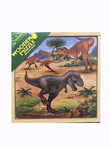 Silbans International Jurrasik World Dinosaur Deluxe Edition Puzzle in Various Styles (49 Pieces)