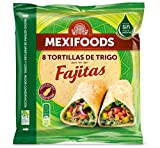 Mexifoods, Pan con harina integral envasado - 320 gr. (6 Packs de 8)