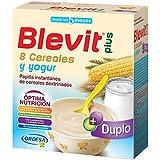 Blevit Plus Duplo 8 Cereales y Yogur - Paquete de 2 x 300 gr - Total: 600 gr