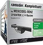 Rameder Komplettsatz, Anhängebock mit 2-Loch-Flanschkugel + 13pol Elektrik für Mercedes-Benz Sprinter 3,5-t Kasten (123307-05590-2)