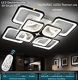 LED Deckenleuchte 2123-8 59*59 cm 75 W mit Fernbedienung Lichtfarbe/Helligkeit einstellbar, Acryl-Schirm, weiß lackierter Metallrahmen (2123-8 59*59 cm 75 W) LED Wohnzimmerleuchte Kronleuchte Pendelleuchte DeckenlampeDeckenstrahler LED Deckenleuchte Hängeleuchte Hängelampe LED lampe LED Leuchte Beleuchtung Einbauleuchte Wandleuchte Spot Lüster